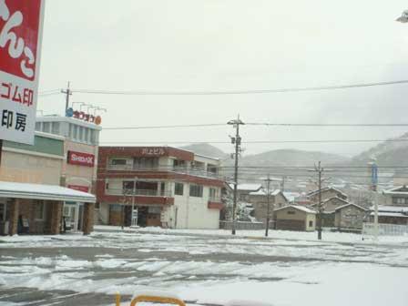 店内からの風景写真