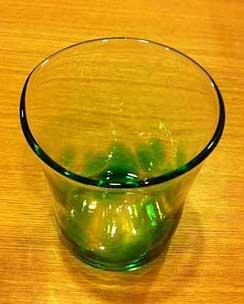 体験制作したグラス