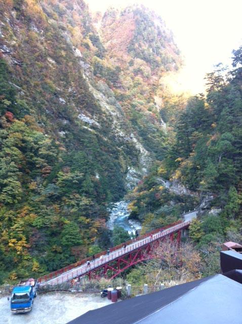 富山県黒部峡谷の欅平展望台